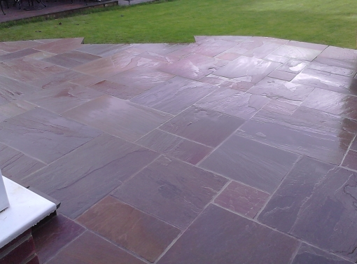 Sandstone paving 900x600, 600x600, 600x300, 300x300 sizes at 1 inch thickness.