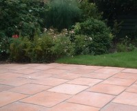 A green background to the Firenza paving