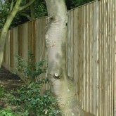 Close board fencing with average prices at 90 pounds per linear metre supplied and fitted. All guide fence prices on the same basis.