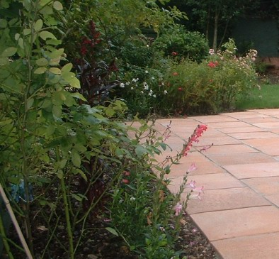 Firenza paving compliments this garden