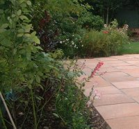 This garden uses Firenza paving