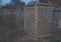 Fencing and trellis structures for the garden