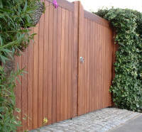 Iroko Entrance Gates