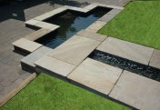 Garden design and build. Hard landscaping with water gardens and water features for outdoor and indoor spaces.