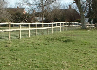 Driven Post & Rail Fencing is a cost effective way of getting a strong fence.